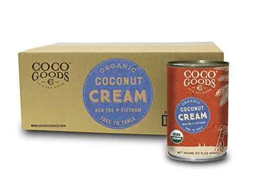 Dairy Free Cream - CocoGoods Co. Vietnam Single-Origin Organic Coconut Cream 13.5 oz - Gluten-free, Non-GMO, Vegan, & Dairy-free (Pack of 12)