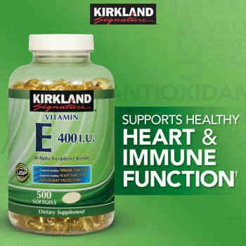 Kirkland SignatureTM Vitamin E 400 Iu, 500 Softgels