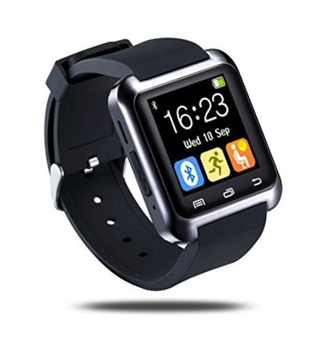 Ceweal® U80 Bluetooth Smart Watch Inteligente Arco Reloj Teléfono Compañero para Android IOS Iphone Samsung LG HTC Negro: Amazon.es: Electrónica