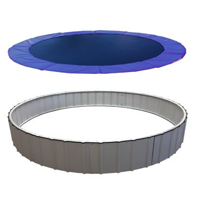 In-Ground Trampolines Stainless Steel Upgrade (Blue, 15')