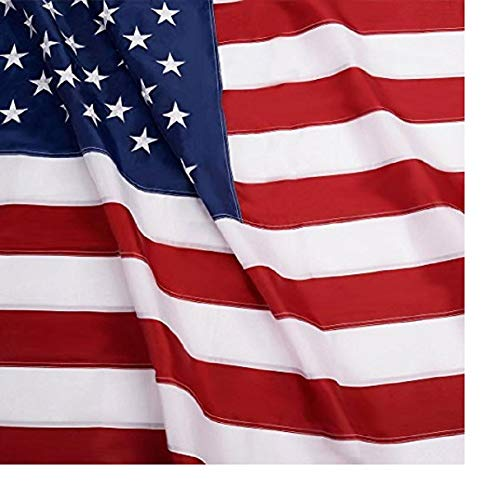 K's Novelties Woven Polyester American Flag 3x5 Ft Embroidered Stars Sewn Stripes Brass Grommets 210D Quality Oxford Nylon ()