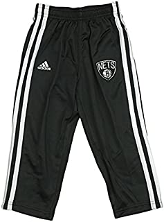 Brooklyn Nets NBA Little Boys, Toddlers 3-Stripe Track Pants, Black