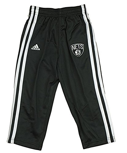 Brooklyn Nets NBA Little Boys, Toddlers 3-Stripe Track Pants, Black Adidas
