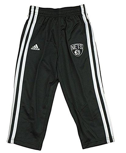 Brooklyn Nets NBA Little Boys, Toddlers 3-Stripe Track Pants, Black Adidas