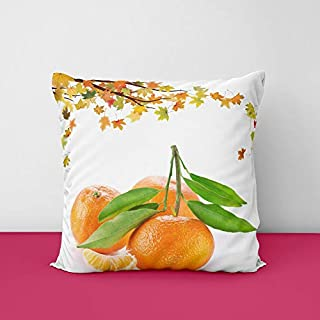 41OVJt2CrVL. SS320 Fresh Orange Square Design Printed Cushion Cover