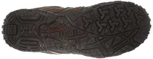 Columbia Mens Redmond Impermeabile Ampia Scarpa Da Trekking Fango, Rosso Granato