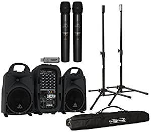 Behringer Europort PPA500BT Compact PA System with Wireless Mics