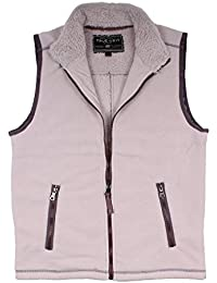 Bonded Polar Fleece & Sherpa Lined Vest in Ivory by Final Sale