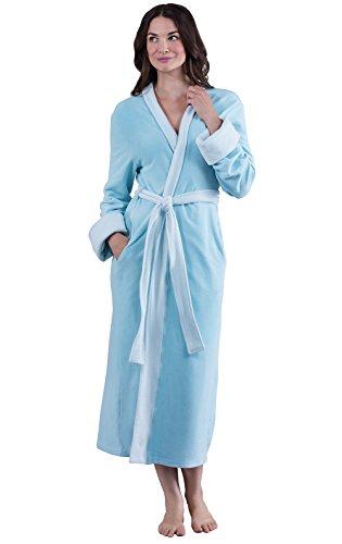 PajamaGram Fleece Robes for Women - Fleece Bathrobes for Women, Teal, M/L, 8-14