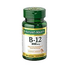 Natures Bounty Natural Vitamin B12, 1000mcg, 100 Tablets (pack Of 2)