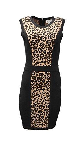 cheetah print knit dress - 6
