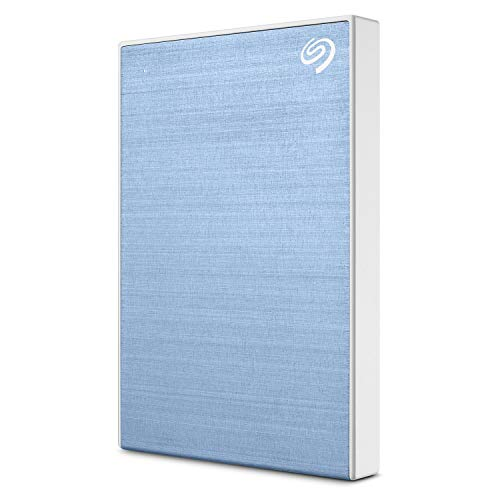 (Seagate Backup Plus Slim 2TB External Hard Drive Portable HDD - Light Blue USB 3.0 for PC Laptop and Mac, 1 year Mylio Create, 2 Months Adobe CC Photography (STHN2000402))
