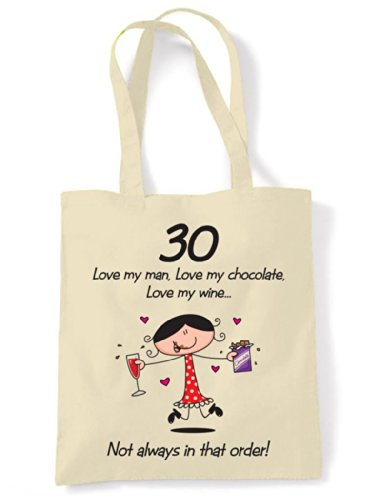 Man Birthday My 30th Tote Bag My Chocolate Wine Shoulder Love Love My Love w58pz