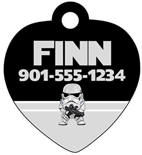 uDesignUSA Disney Star Wars Custom Pet Id Tag for Dogs & Cats Personalized w/Your Pet's Name & Number (Stormtrooper)]()