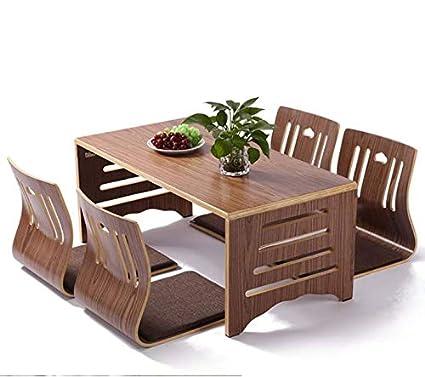 Surprising Amazon Com Wangyongqi 5Pcs Set Modern Japanese Style Spiritservingveterans Wood Chair Design Ideas Spiritservingveteransorg