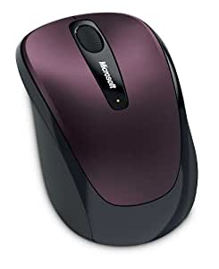 Microsoft Wireless Mobile Mouse 3500 - Sangria Red Metallic