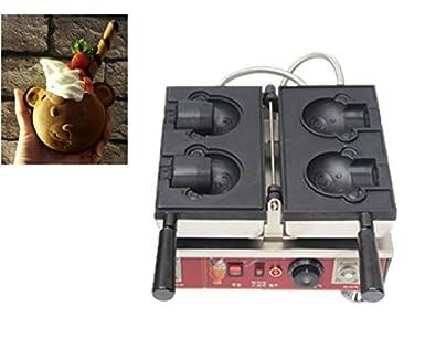 2 Bär Commercial- und E-Bär Eis Waffel Maker Waffle Baker (Bär Form ...