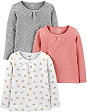 Simple Joys by Carter's Baby-Girls 3-Pack Long Sleeve Shirts