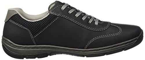 Rieker 15222, Zapatillas para Hombre Negro (Schwarz/schwarz/schwarz/polvere)