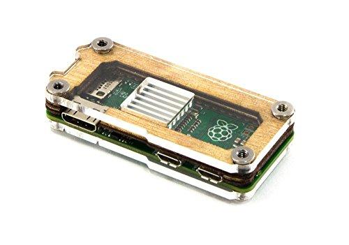 C4 Labs Zebra Zero for Raspberry Pi Zero - Wood T2 - with Heatsinks