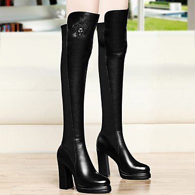 5 UK4 Chunky Over Knee EU37 Boots Dress Evening Synthetic Fashion Fall For Party CN37 Heel Boots RTRY Boots Women'S Winter Shoes amp;Amp; 5 The Red Black US6 7 5 Sw7q8vWp4x