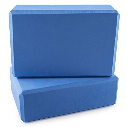 "Peace Yoga Foam Exercise Blocks Blue [9"" x 6"" x 3""] (2 pack)  yoga blocks 2 pack | Yoga Blocks 2 Pack 41OVNReV 2BIL"