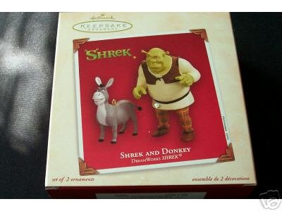 Shrek and Donkey 2003 Hallmark Keepsake Ornament (QXI8759) - Donkey Keepsake