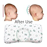 Baby Pillow for Sleeping,Infant Head Shaping Pillow Prevent Flat Head Syndrome,Easylife185 Memory Foam