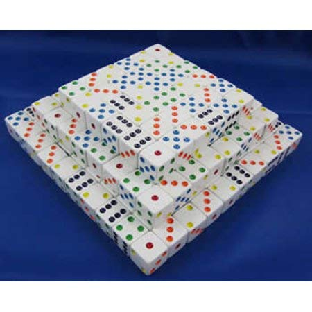 お気に入り White with Dots Squared Multi-Colored Dots D6 Squared D6 Corners (200) B008ESQLPI, GRAMAGA(グラマガ):2635255b --- cliente.opweb0005.servidorwebfacil.com