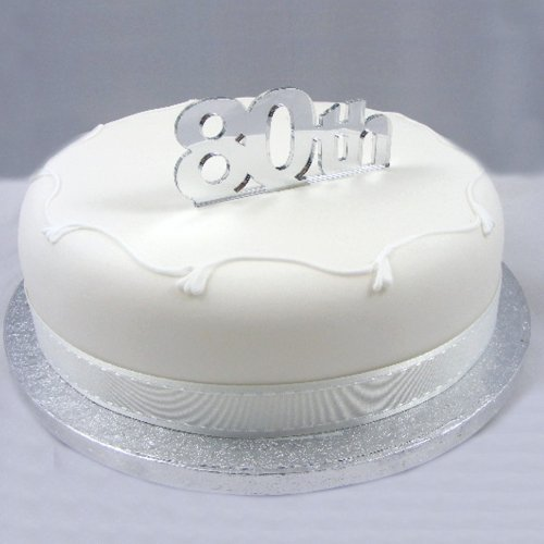 80th-Cake-Topper-Silver-Acrylic-Mirror-Large