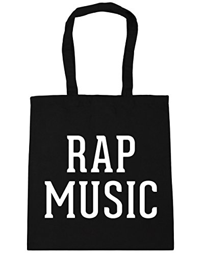 Black Tote Rap 42cm x38cm music HippoWarehouse 10 Beach Shopping Gym Bag litres 7EP7qwd0