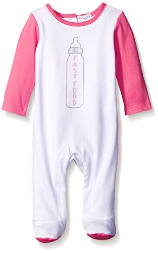 absorba ABNG7106R Newborn Girls Footie