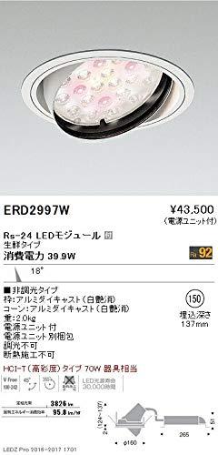 ENDO LEDユニバーサルダウンライト 生鮮タイプ Ra92 埋込穴φ150mm 非調光 HCI-Tタイプ70W相当 ナローミドル ERD2997W(ランプ付) B07HQ6JHXK