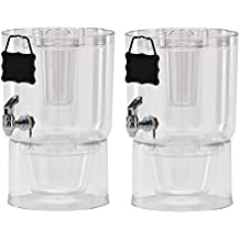 Buddeez Cold Beverage Dispensers (Set of 2), 1.75 gallon, Clear