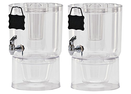 Buddeez Pary Top Beverage Dispensers , 1.75 Gallon, 2 Count