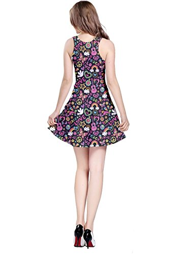 CowCow - Vestido - para mujer Colorful Groovy