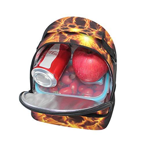 el el FOLPPLY ajustable Bolsa para correa para The Hexagon almuerzo Burning con térmica hombro Stars F0wxO0qrA