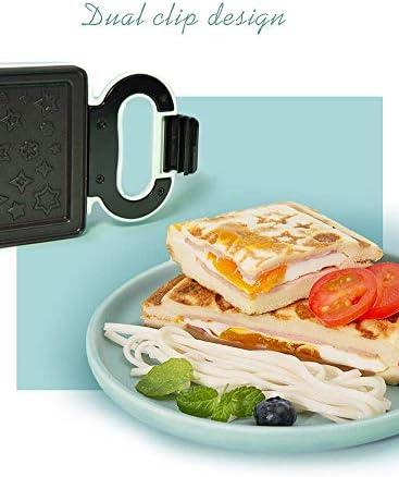 Electric baking pan Petit Mini Multifonctionnel Sandwich Maker Multifonction Petit Déjeuner Maker Gaufrier Plaque Antiadhésive Poignée Fraîche 20 V 600 W Sandwich Vert