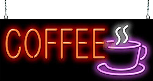 Coffee w/Cup Neon Sign ()
