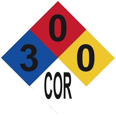 Amazon Corrosion Fire Diamond Sign 12 X 12 Hydrochloric