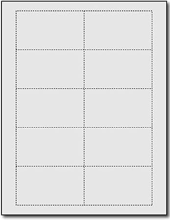 Amazon.com : Plain Grey 110lb Index Business Cards - 25 Sheets ...
