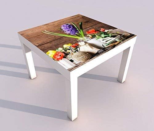 Diseño - Mesa con UV Presión 55x55cm Jardín Trabajo Madera ...