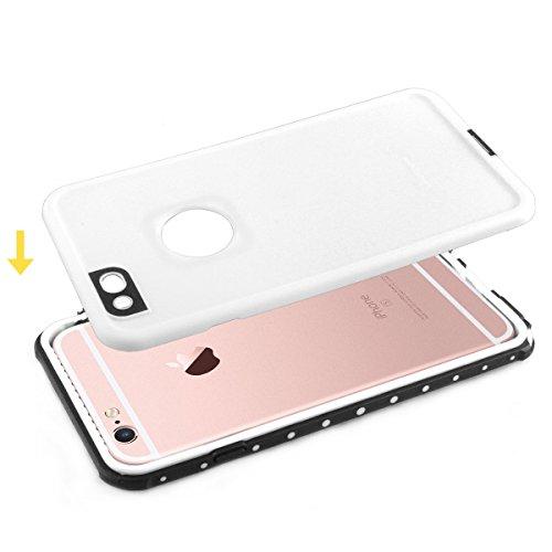 Alienwork Schutzhülle für iPhone 6 Plus/6s Plus geeignet für Fingerabdruck Hülle Case Bumper Wasserdicht Staubdicht Schneedicht Plastik weiss AP6SP09-02
