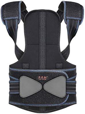 背中姿勢補正 - 姿勢ブレース脊椎サポート、首、背中、および肩の痛みを軽減する - 男性用姿勢黒、黒 (Size : M)