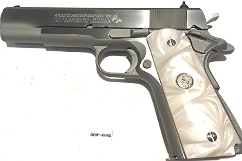 (1911 GRIPS,FITS COLT FULL SIZE SILVER