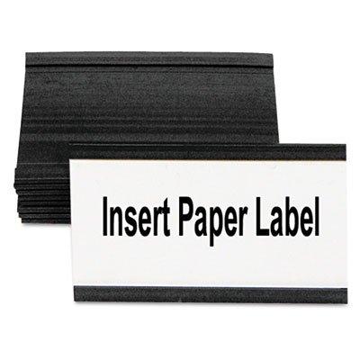 Magnetic Card Holders, 3''w x 1-3/4''h, Black, 10/Pack - BVCFM2630