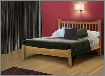 aston solid oak super king size bed frame