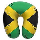 Mortimer Gilbert Distressed Jamaica Flag Jamaican Comfortable U-Shape Memory Travel Neck Pillow