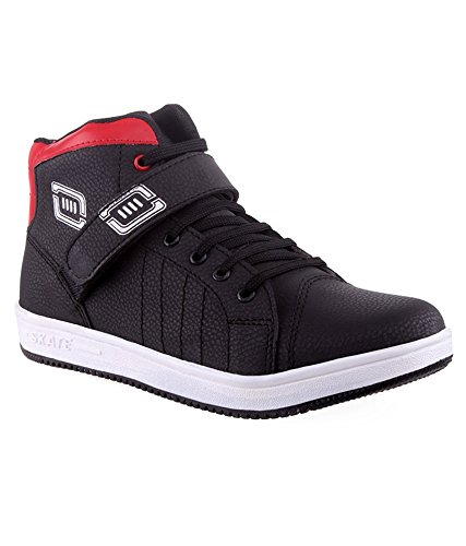 92dfb428d35de8 Skoene Casual high Ankle shoes in Red   Black Color  Buy Online at Low  Prices in India - Amazon.in