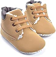 Kuner Toddler Baby Warm Winter Short Snow Boots for Boys Girls First Walkers Shoes 0-18 Months